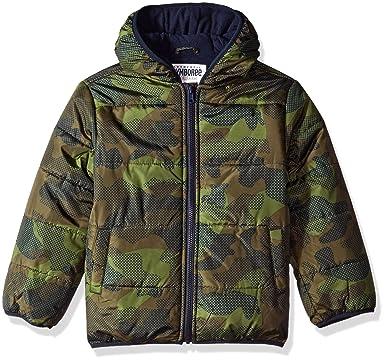 724f3ce55c2f Amazon.com  Gymboree Boys  Little Camo Puffer Jacket  Clothing