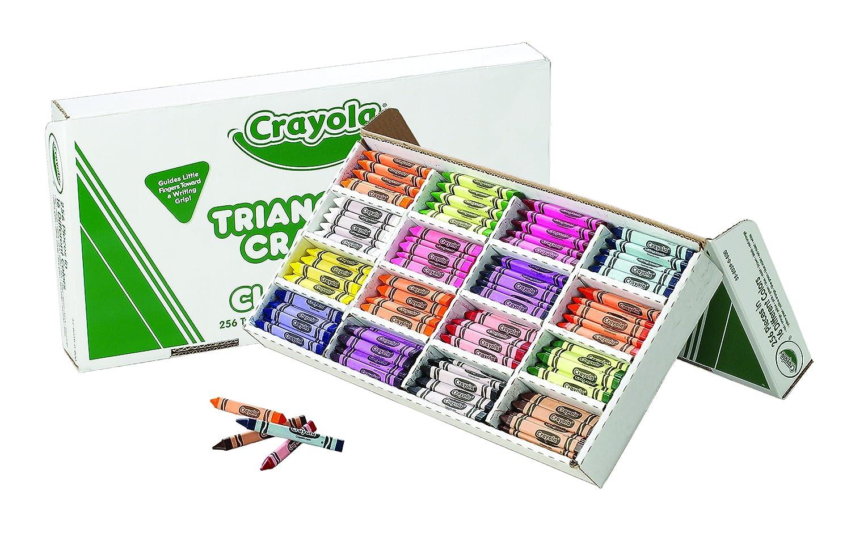 Classpack Triangular Crayons, 16 Colors, 256/BX (並行輸入品) B002VUIU0E