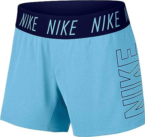 023ceee7 Amazon.com : Nike Girls Dry Trophy Graphic Shorts (L, Blue) : Sports ...