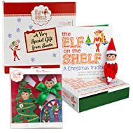 Elf on the Shelf Gift Set: Girl Scout Elf Plus Two Ha Ha Holiday Costumes - In Special North Pole Gift Box