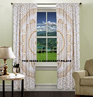 Tende per finestra da camera da letto, in stile mandala con elefante ...