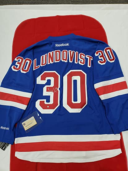 the latest a8251 71671 Henrik Lundqvist Signed NY Rangers Jersey at Amazon's Sports ...