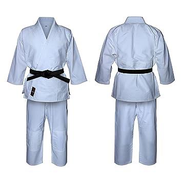 V.Sports Uniforme de Judo en blanco lejía, para niños y adultos, kimono. Trajes blancos de judo
