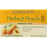 Bigelow Perfect Peach Herbal Tea, 20-Count Boxes (Pack of 6)