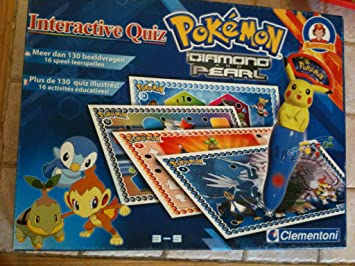 Clementoni - Pokemon Diamond And Pearl Interactieve Quiz: Amazon.es: Juguetes y juegos