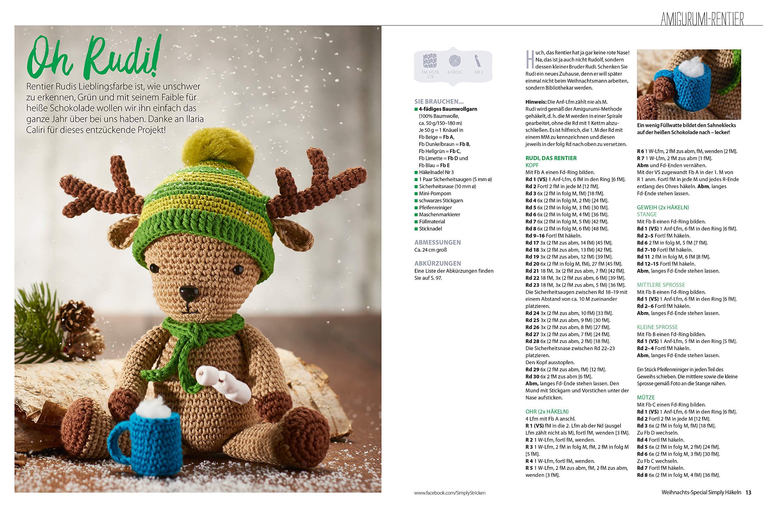 Simply Häkeln Weihnachts Special 30 Festliche Projekte Für Das