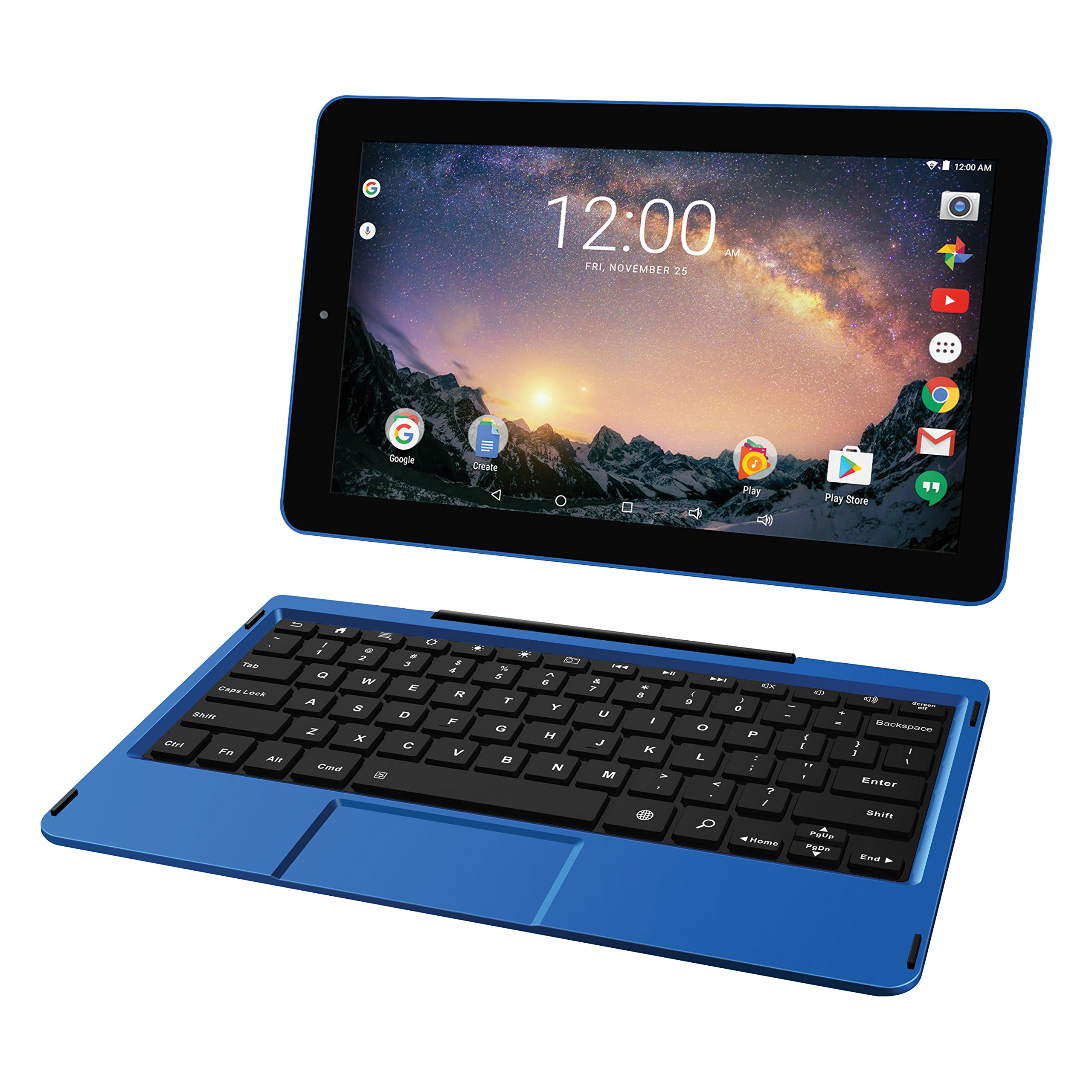 RCA RCT6513W87DK Galileo Pro 11.5'' 32GB 2-in-1 Tablet Keyboard Case (Blue)
