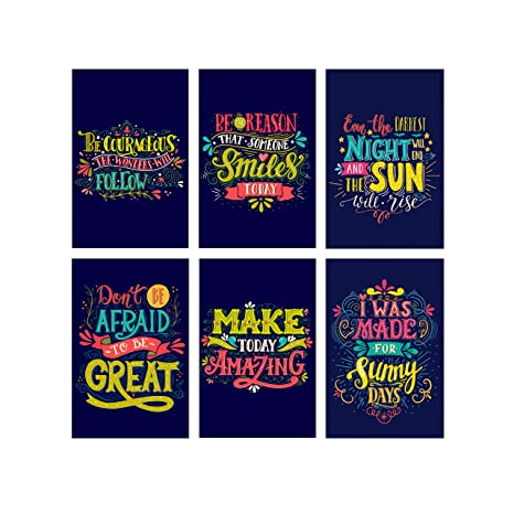 6 Unique Wall Art Posters With Motivational Quotes   Growth Mindset Posters  For Classroom   Inspirational Posters Perfect For Kids Room Wall Decor   ...