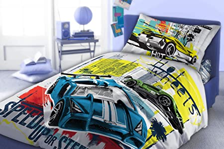 Maxi U0026 Mini U2013 Hot Wheels Bedding Set Duvet Cover 70x80 160x200 + Pad Idea  Decorative