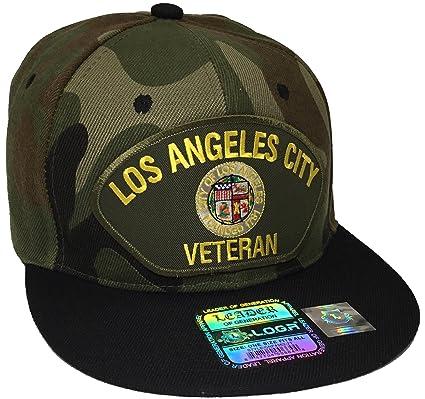 Amazon.com   Los Angeles City Veteran Hat Camo and Black Snapback    Everything Else 1194243bb7e