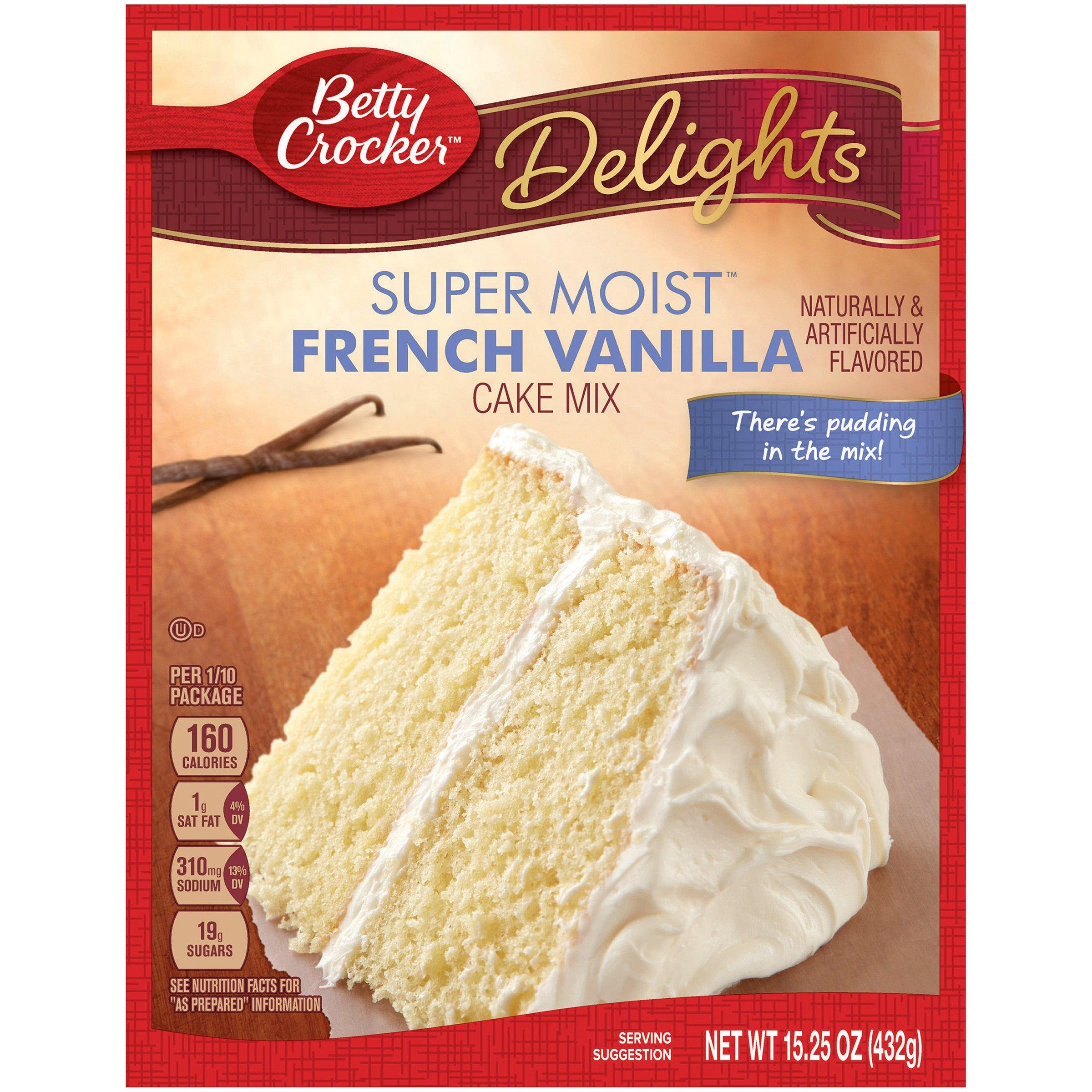 Betty Crocker Baking Mix, Super Moist Cake Mix, French Vanilla, 15.25 Oz Box