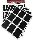 Large Chalkboard Labels - Erasable Decorative Chalk Labels - Set of 54 Reusable Premium Jar Labels - Chalkboard Stickers - Canister Sticker Labels for Stylish Organization, Wedding Decorations, Crafts