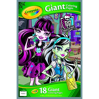 Crayola Monster High Giant Coloring Pages: Toys & Games