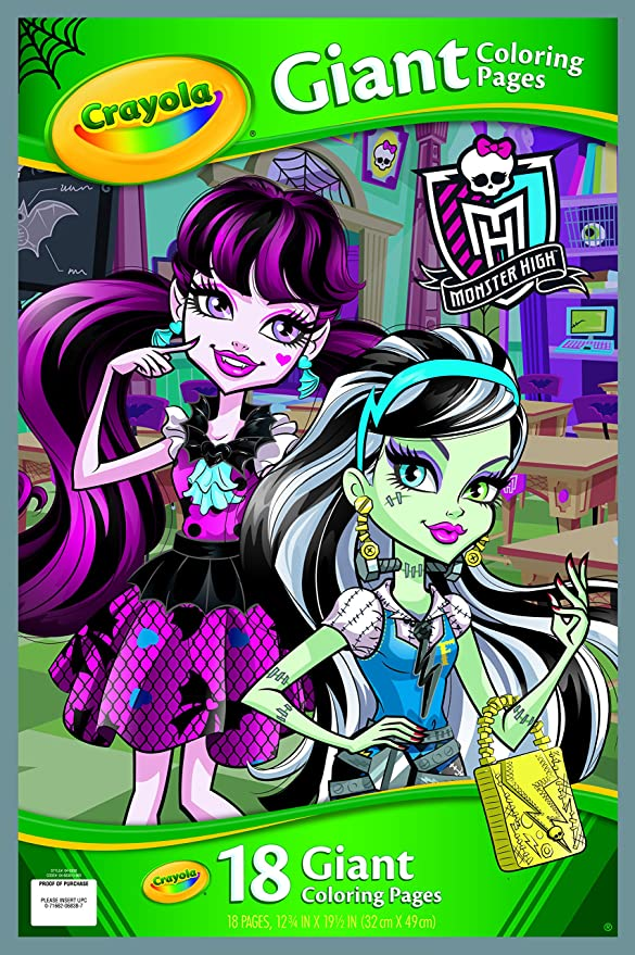 Amazon.com: Crayola Monster High Giant Coloring Pages: Toys & Games