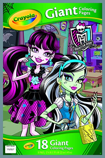 Amazon Crayola Monster High Giant Coloring Pages Toys Games