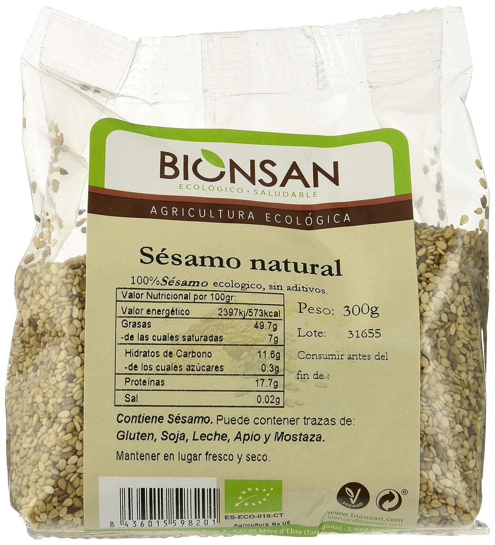 Bionsan Sésamo Natural de Cultivo Ecológico - 6 Paquetes de 300 gr - Total : 1800 gr