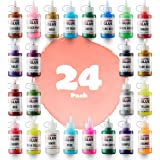 Glitter Glue (Value Pack - 24 Colors) | Washable Glittery Art Glue | Essential Slime Supplies for Slime Making and Arts…