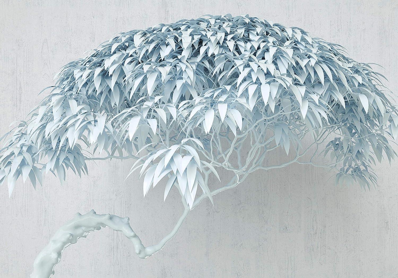 Wandmotiv24 Fototapete Fototapete Fototapete 3D Baum Blau Betonwand Beton Wand 3D Effekt M1804 M 250 x 175 cm - 5 Teile Wandbild - Motivtapete B07KLW9CYV Wandtattoos & Wandbilder eaf0e6