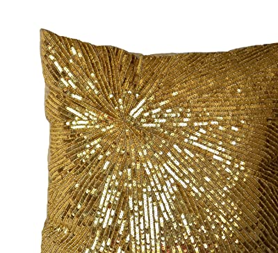Gold Sparkly Pillows