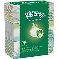 Kleenex Lotion Facial Tissues with Aloe & Vitamin E, Flat Box, 120 Tissues per Flat Box, 3 Packs