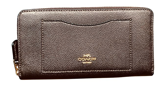 332c78ca3b25 Image Unavailable. Image not available for. Color  Coach Crossgrain Leather Accordion  Zip Wallet ...