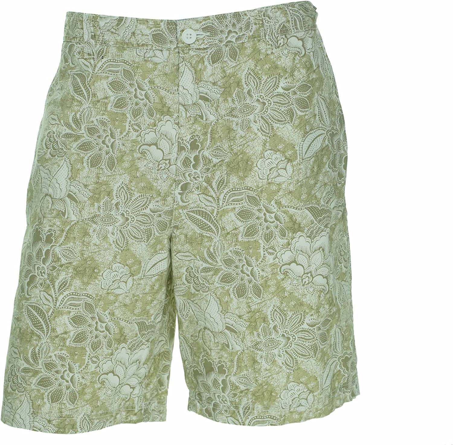 Club Room Mens Ethnic Printed Flat Front Shorts