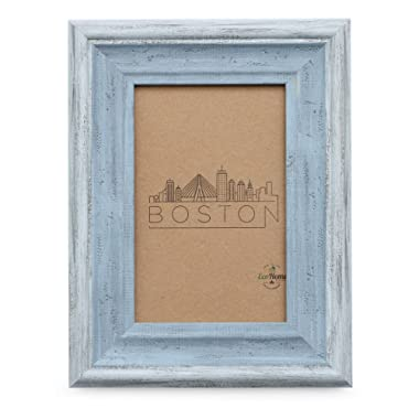 4x6 Picture Frame Distressed Blue - Mount Desktop Display, Frames by EcoHome