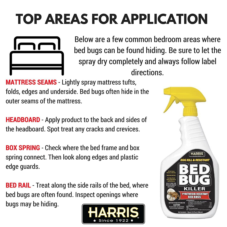 amazon com harris pyrethroid resistant bed bug killer 32 oz