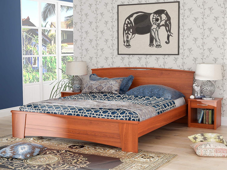 Stylespa Estilo King Size Bed (Siena Cherry)