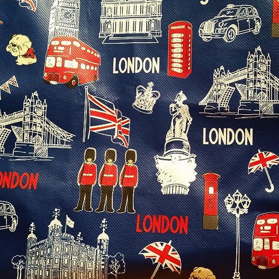 My London Souvenirs - Bolsa de mano con diseño de monumentos icónicos de Londres Bolsa de la compra reutilizable / Recuerdo/ Souvenir.
