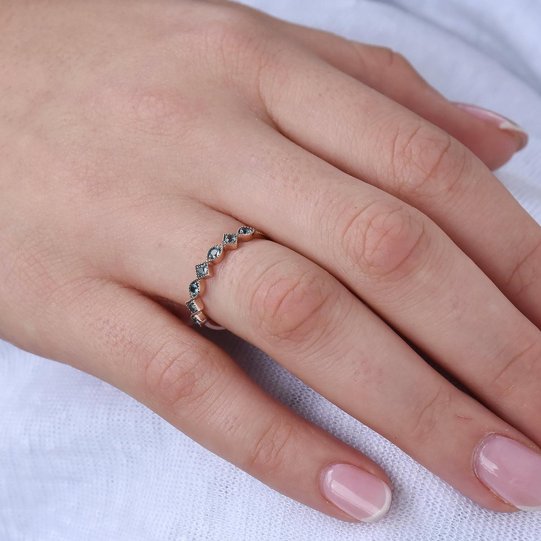 Amazon.com: Dainty Topaz Band, Blue gemstone ring, Topaz Gold Ring ...