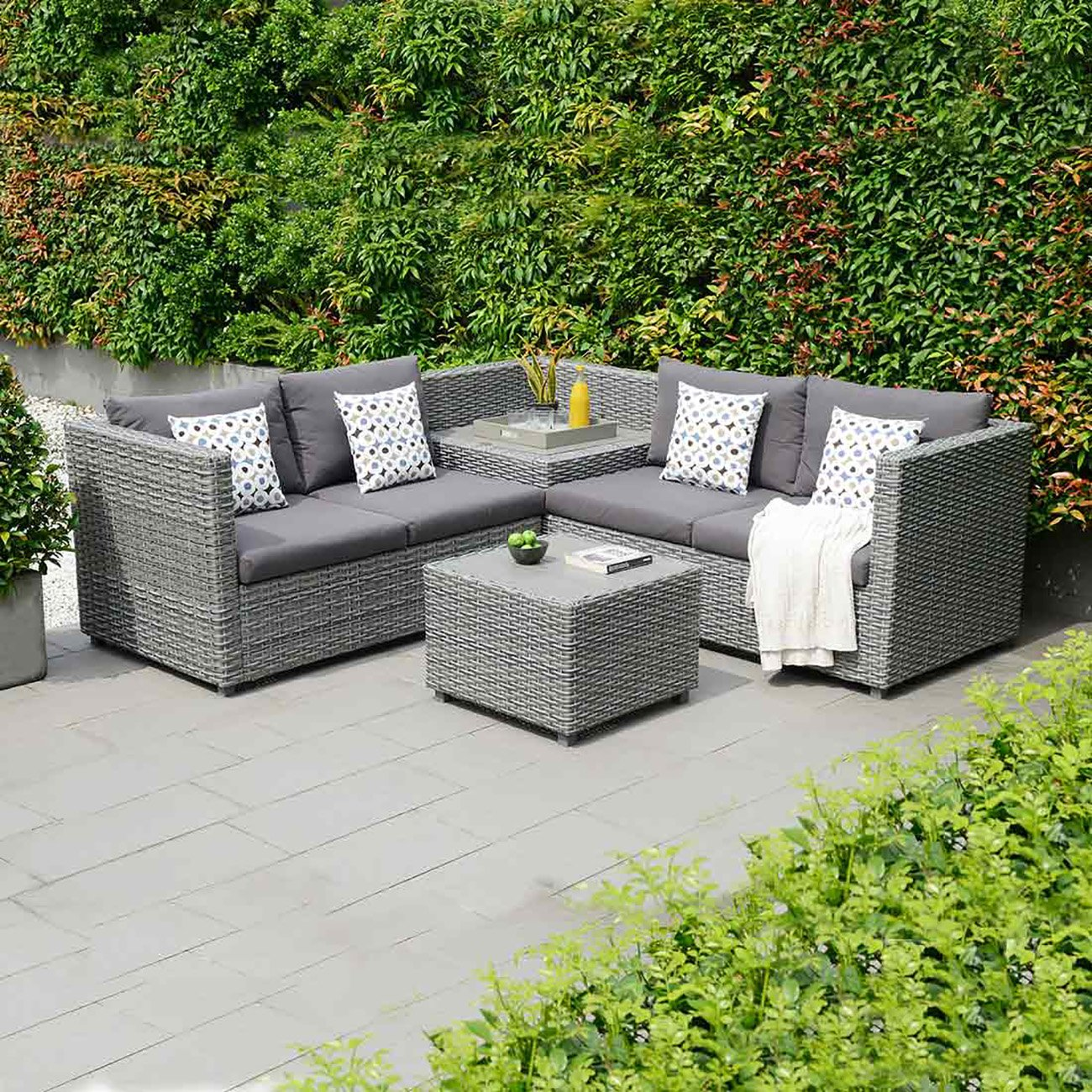 gartenlounge polyrattan outliv sibuyan 3 tlg loungem bel outdoor loungegruppe lounge set. Black Bedroom Furniture Sets. Home Design Ideas