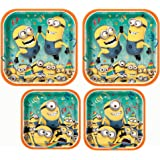 Square Despicable Me Dinner Plates, 2 Pack of 8 total 16ct and Square Despicable Me Dessert Plates, 2 Pack of 8 total 16ctr Plates,