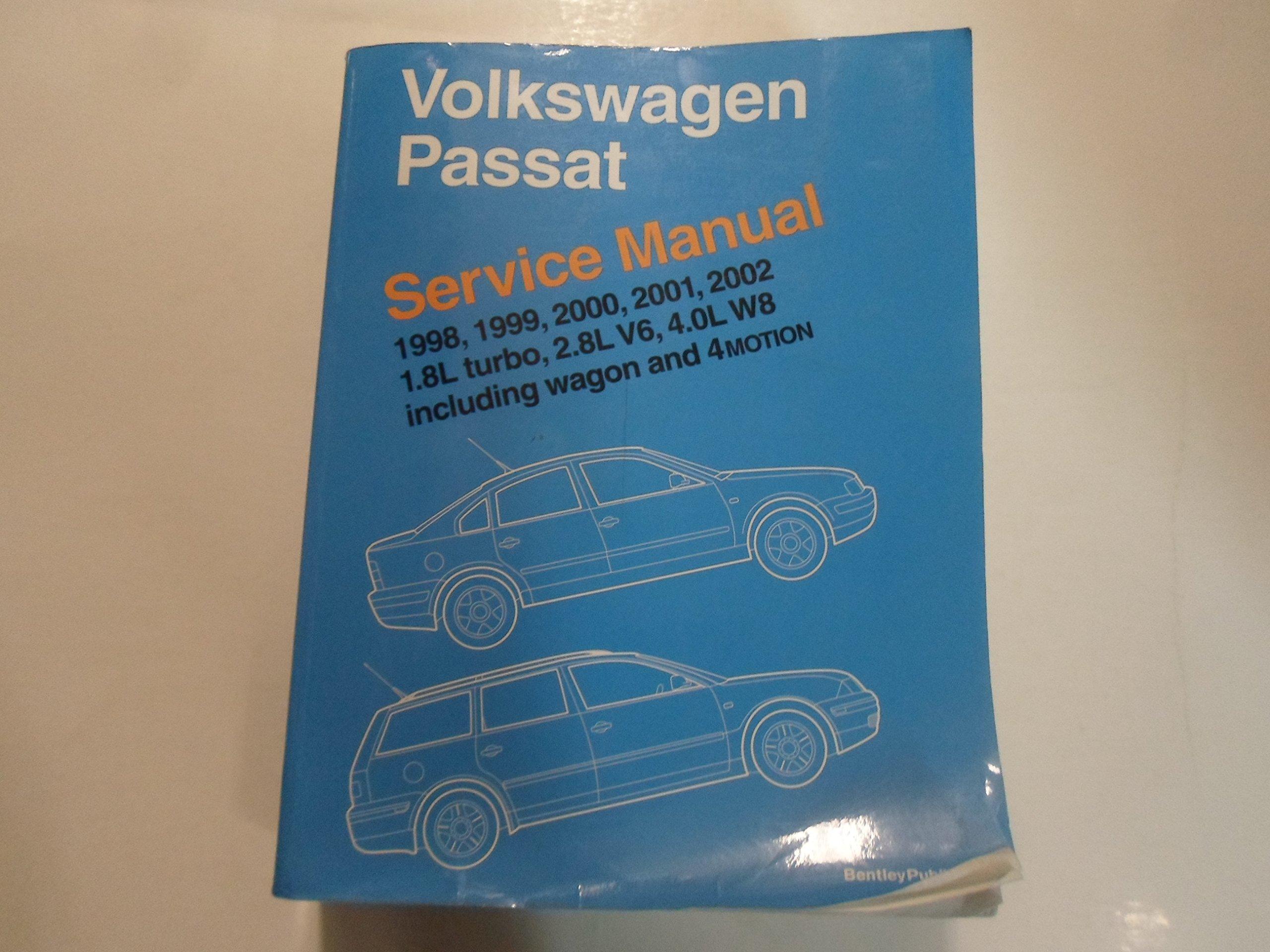 1998 2002 VW Passat 1.8L 2.8L V6 4.0L W8 Service Repair Manual MINOR WEAR:  Volkswagen: Amazon.com: Books