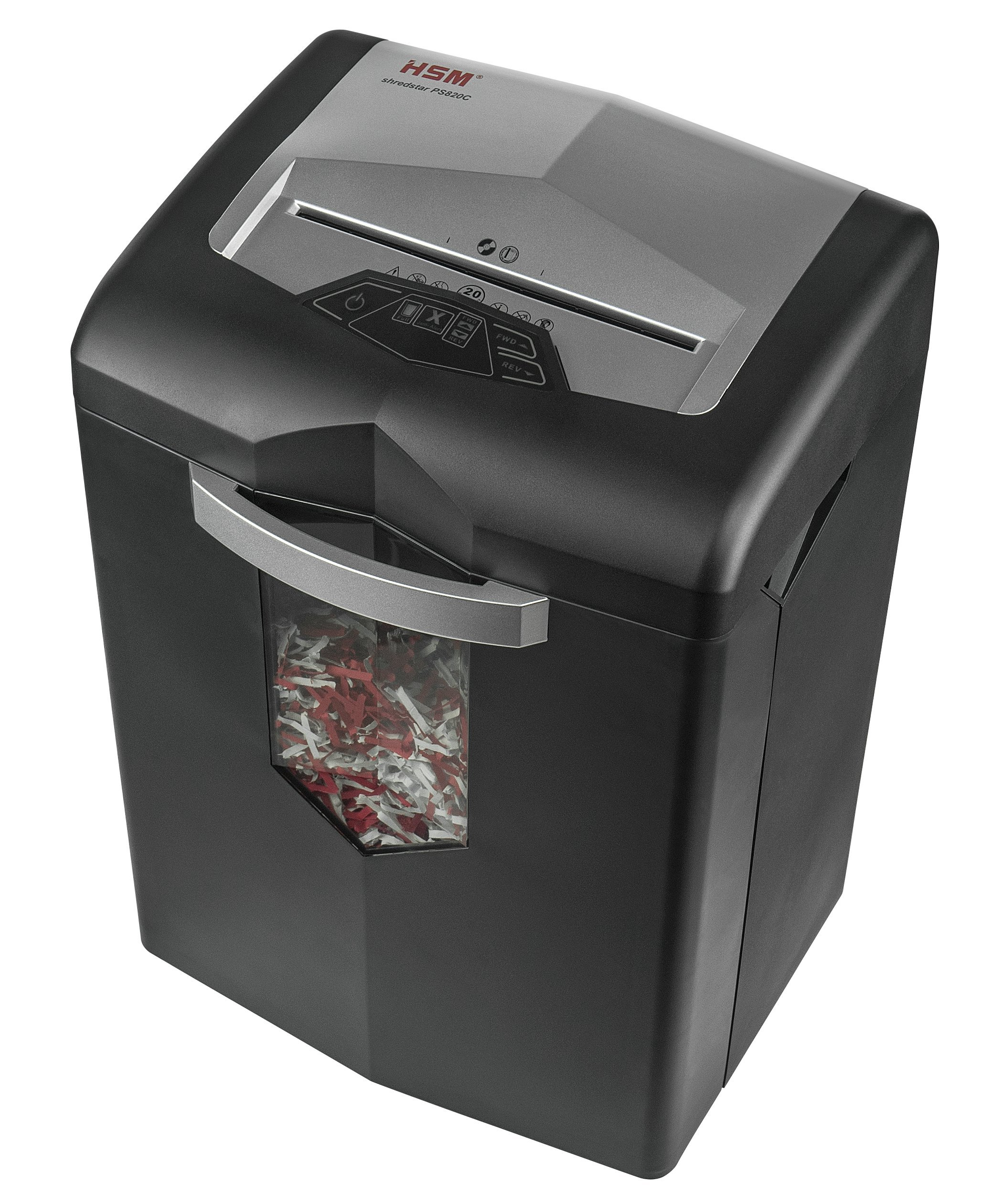 HSM Shredstar PS820C 20-Sheet Cross Cut, 7.1-Gallon Capacity, Continuous Operation Shredder by HSM