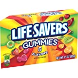 Life Savers 5 Flavors Gummies Candy Theater Box, 3.5 ounce (12 Single Packs)