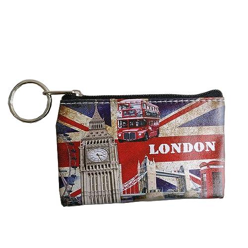 Ladies Coin Purse - Union Jack London icons Picture with - London Souvenir coin purses CB013