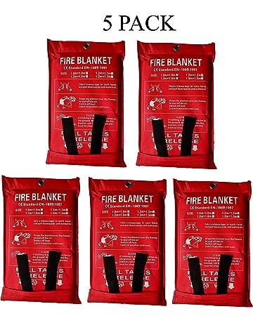 voiture chemin/ée lot de 4 1 x 1 m couverture de survie bureau Couverture incendie de protection contre le feu couverture anti-flamme entrep/ôt couverture de s/écurit/é pour cuisine