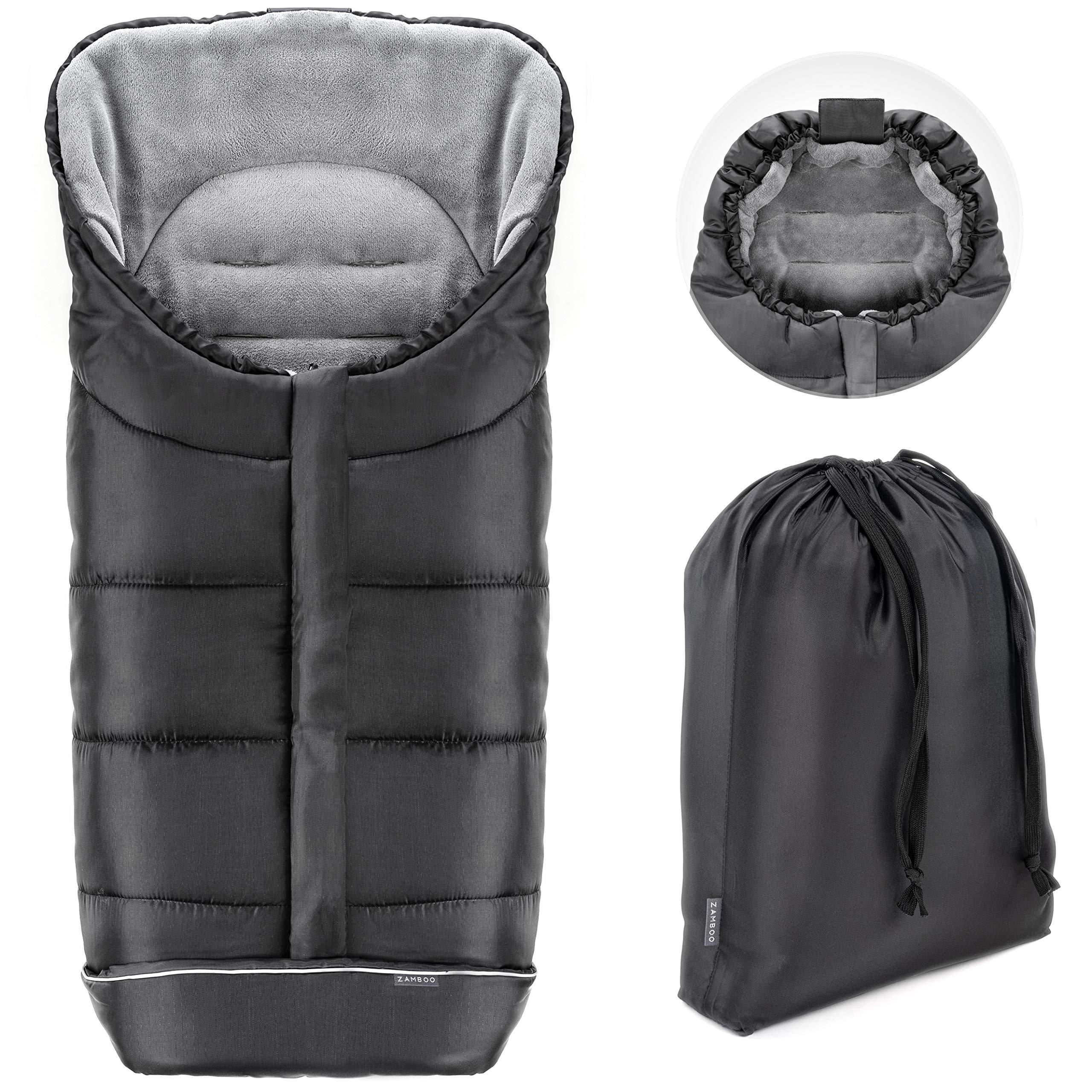 Zamboo Saco de invierno Universal para cochecito y silla de paseo   Protección antideslizante, forro