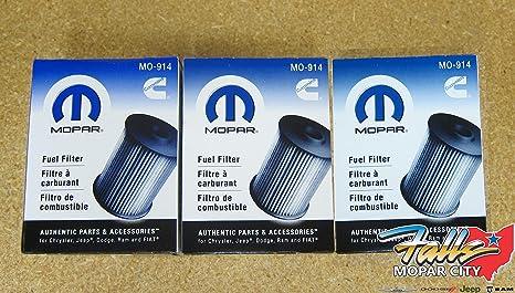 [DIAGRAM_4FR]  Amazon.com: Dodge Ram 2500 3500 5.9L Cummins Diesel Fuel Filters Set Of 3  Mopar OEM: Automotive | 2004 Ram 2500 Fuel Filter |  | Amazon.com