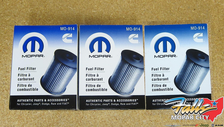 Dodge Ram 2500 3500 59l Cummins Diesel Fuel Filters Set Of 3 Mopar Jeep Filter Oem Hot