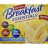Nestle Carnation Instant Breakfast Classic French Vanilla 10 pk Nutritional Energy Drink 12.6 oz
