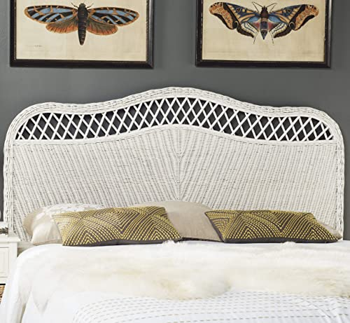 Safavieh Home Collection Sephina White Rattan Headboard Queen