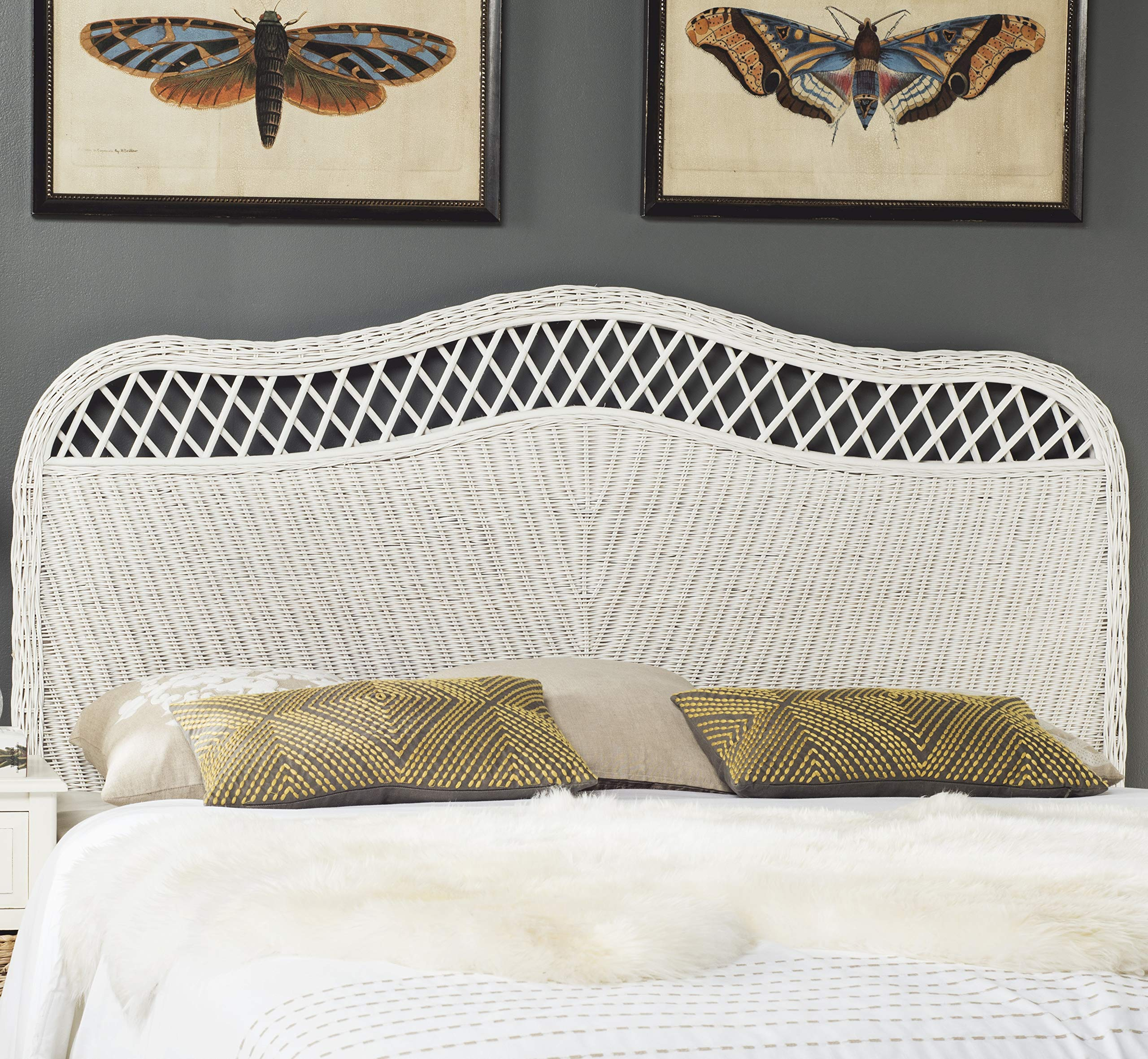 Safavieh Home Collection Sephina White Rattan Headboard (Queen) by Safavieh