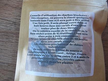 2 charbons Actifs de ch/êne binchotan et 30 c/éramiques EM afin de Purifier efficacement 2 carafes de 2 litres deau
