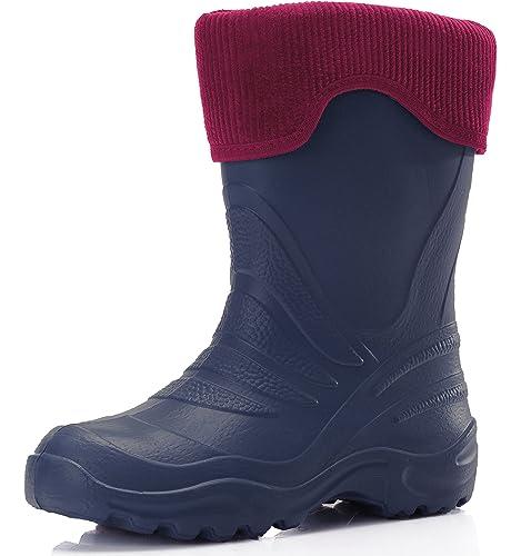 Ladeheid Botas de Agua Antideslizantes Zapatos de Seguridad Unisex Niños LA-861-2017 (