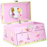 Caja de Música de Hadas rosa con asa para transportarla - Joyero musical para niñas - Lucy Locket
