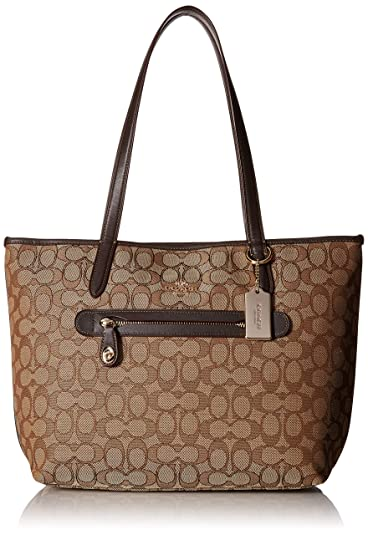 459fd095284d Amazon.com  COACH Women s Signature Taylor Tote LI Khaki Brown Tote ...