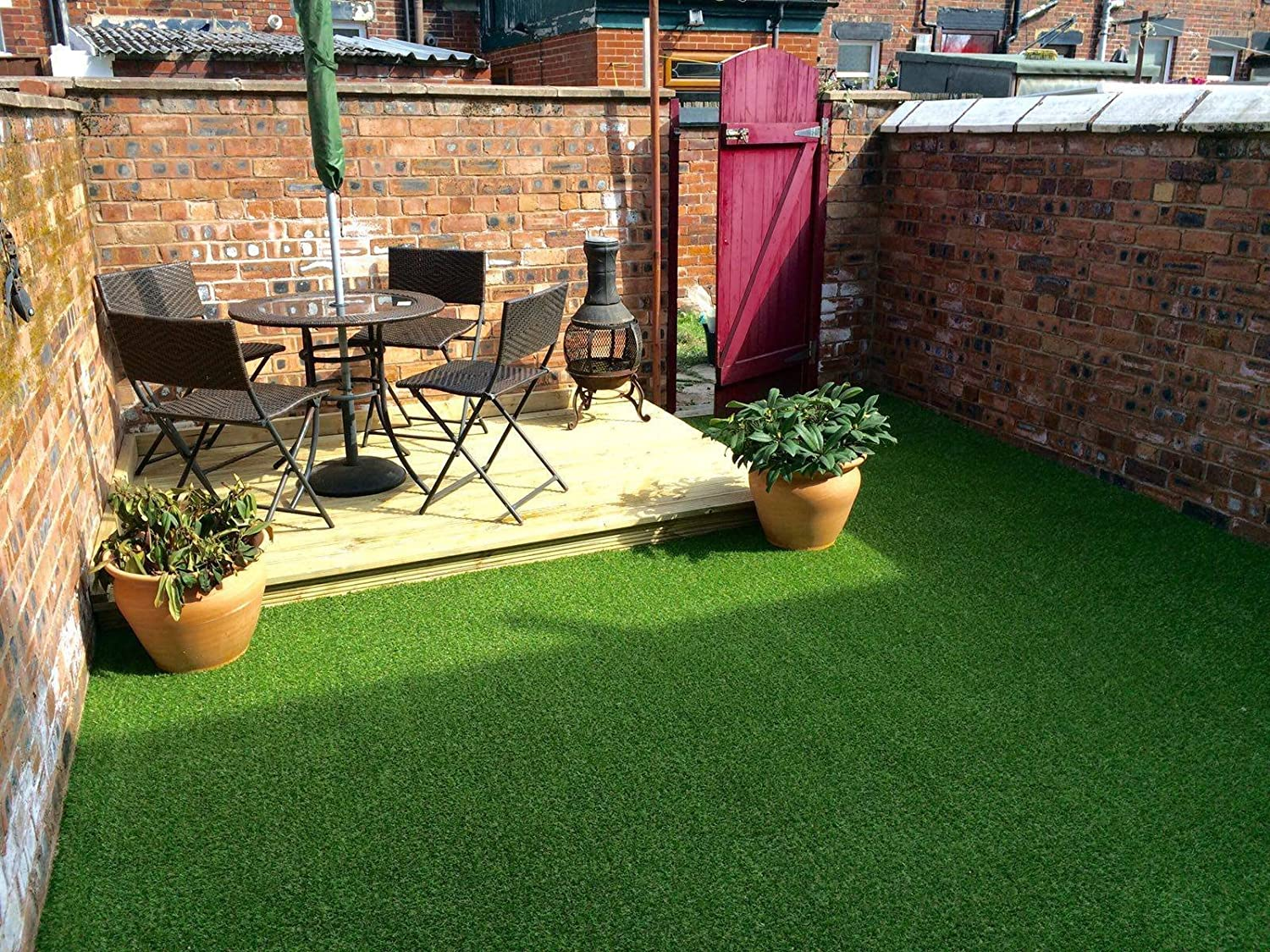 2m x 1.5m Seville 15mm Pile Height Artificial Grass | 4 ft 11 Inch x 6 ft 5 Inch | 150cm x 200cm | 59 x 79 Inches Tuda Grass Direct