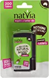100% Sugar Free Natvia Sweetener Tablets Dispenser Pack with 200 Tablets. Premium High Quality Low Calories Naturally Derived Sugar Alternative/Substitute Tablets